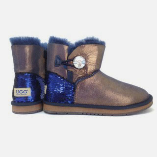 One Button Ankle Crystal UGG