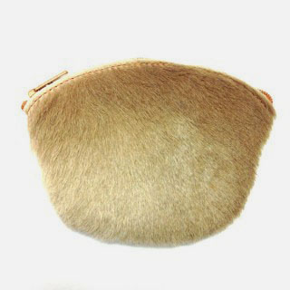 Half Oval Coin Purse Fur