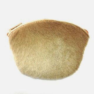 Half Oval Coin Purse Fur